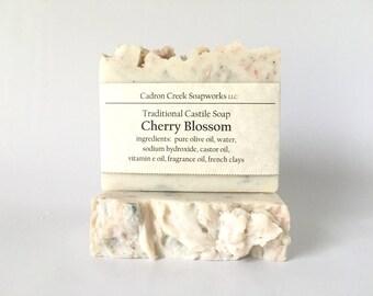 Cherry Blossom Soap, Traditional Castile Soap