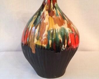Vintage Norleans Japan Vase Brown Orange