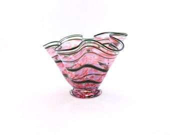Pink Blown Glass Bowl