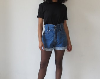 highwaisted denim shorts Vintage jean shorts 90s grunge denim cutoffs
