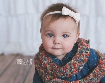 Baby Girl Headband - Baby Headbands - Bow Headband - Sparkle Headband - Newborn Headband - Baby Girl - Headbands - Baby Bow - Baby