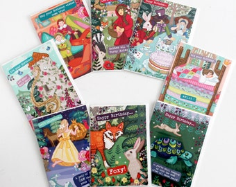Fairytale Greetings Cards Set - 'Happy Ever After' Collection of Celebration Cards