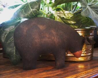 Bear Shelf Sitter - Made To Order, Primitive Bears, Brown Bears, Black Bears, White Polar Bears