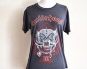 1985 Motörhead 10th Year Anniversary World Tour T-shirt