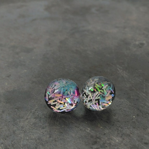 Holographic Earrings For Sensitive Ears Stud Earrings