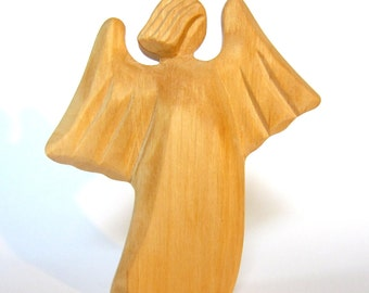 Angel, Wooden Angel, Guardian Angel, Wooden Sculpture, Wooden Art, Religious Statuary, Altar, Woodcarving, Carved Angel, Gift for Baptism