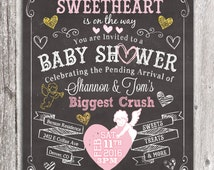 Sweetheart Chalkboard Baby Shower Girl Couples Shower - Discounted Price - Limited Time Only!