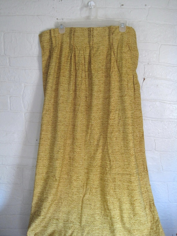 Vintage Mustard Gold Curtain Mustard Yellow Curtain 60s