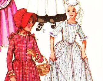 Simplicity 9136 Girls' Puritan, Pilgrim, Centennial, 18th and 19th Century Costumes Dress, Bonnet, Drape and Apron Sewing Pattern Sz 14