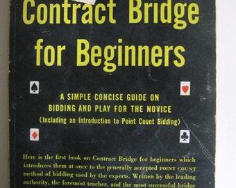 Charles H. Goren's Contract Bridge for Beginners -1953 Vintage Paperbook