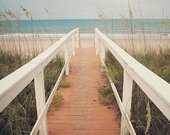 Sunrise Photography, Vilano Beach Photography, St Augustine, Southern print, sand dunes art, boho decor, travel photography, sea oats, ocean