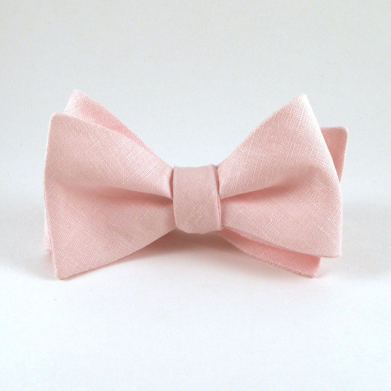 pink bow tie blush pink bowtie mens bow tie blush wedding