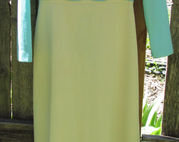 Vintage handmade cocktail dress, vintage dress, vintage empire waist dress, vintage mod, vintage maxi dress, vintage party dress, photo prop