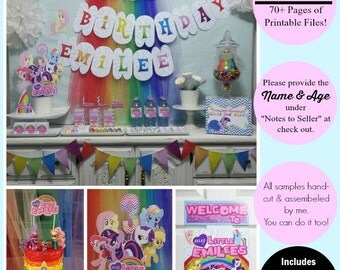 85% OFF | My Little Pony Party | My Little Pony Birthday |  My Little Pony Party Printable | Rainbow Party Printable | Epic Parties by REVO