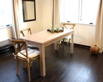 Parsons Farmhouse Dining Table //  Reclaimed Wood Table