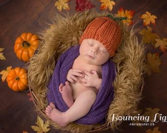 Pumpkin Baby Hat • Pumpkin Newborn Hat • Pumpkin Infant Hat • Pumpkin Baby Shower Gift • New Baby Gift