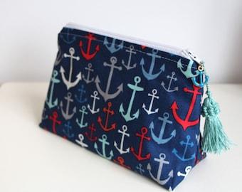 Anchors Cosmetic Bag Organizer Makeup Bag