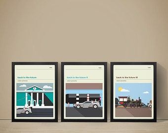 Back To The Future Movie Posters - Set of Prints, Film Poster, Movie Poster, Movie Print, Back To The Future Poster