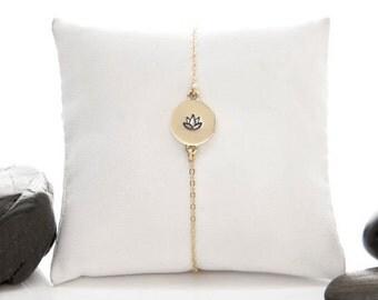Lotus Flower, Lotus Bracelet, Yoga Bracelet, Flower Bracelet, Lotus, Yoga Jewelry, Lotus Flower Charm, Lotus Flower Jewelry, b246m