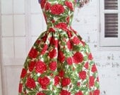 """Handmade Barbie Clothes - Red Rose Dress, 11.5"""" Fashion Doll Clothes"""