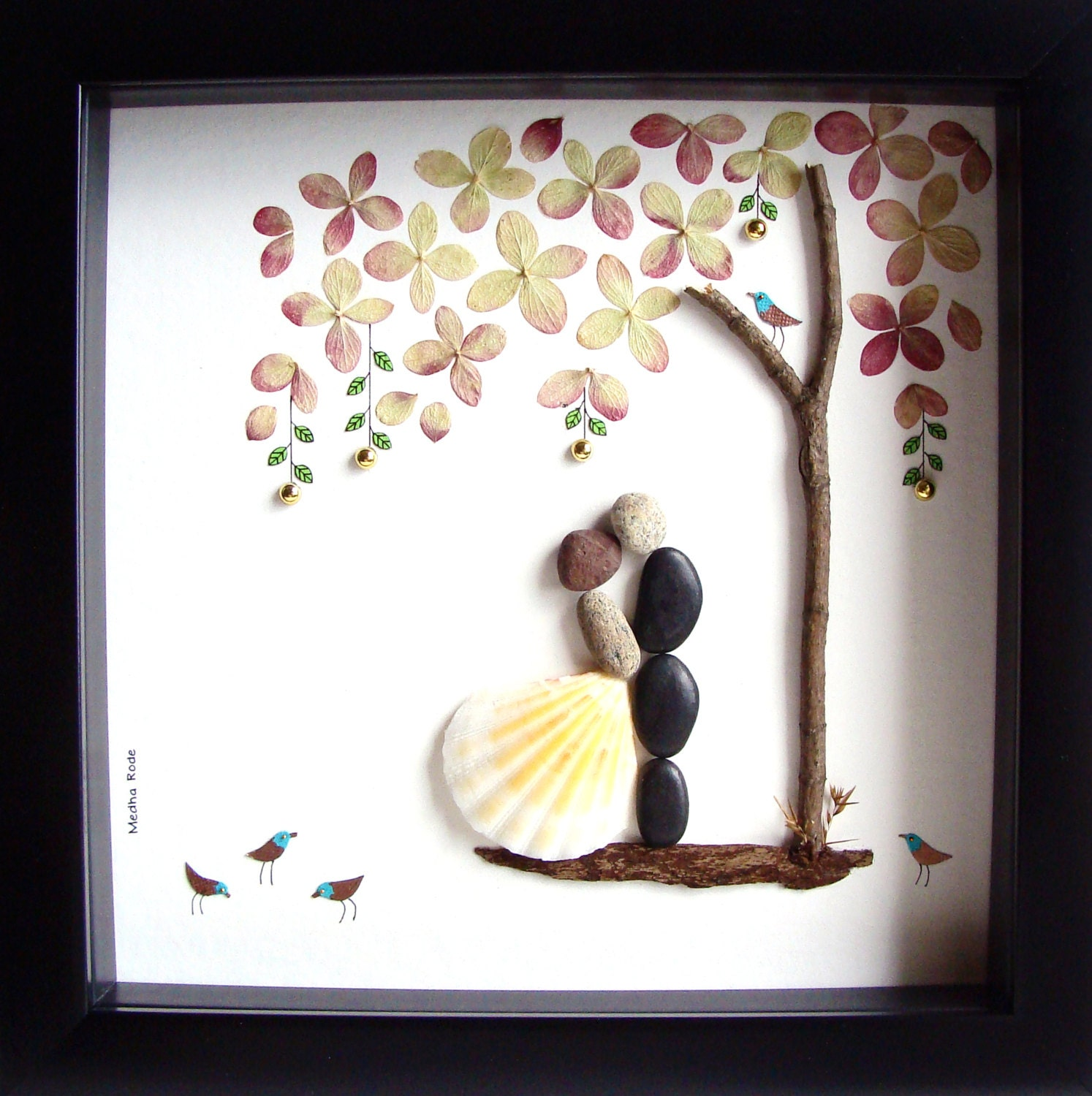 Wedding Gift Pebble Art-Unique Engagement Gift-Personalized