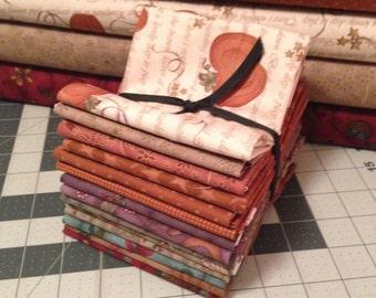 "Fabric: Bundle FQ 14pc Sampler Selection ""Pumpkin Pie"" - Buggy Barn Fabrics"