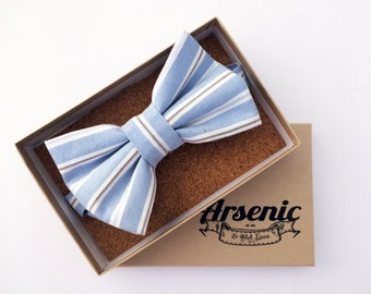 Blue bow tie | mens bow tie | pinstripe bow tie | boys bow tie | toddler bow tie | vintage bow tie | womens bow tie