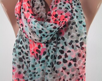 Leopard Scarf Shawl Fall Autumn Winter Spring Summer Scarf Infinity Scarf Women Fashion Accessories Holiday Christmas Gifts For Her For Mom