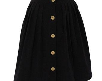SALE A-line winter black skirt