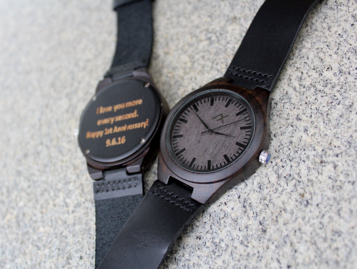 Watch As Wedding Gift: Mens Wood Watch, Leather Watch, Wooden Watch, Gift For Him