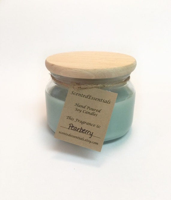 Pearberry Soy Candle Hand Poured Homemade Candle