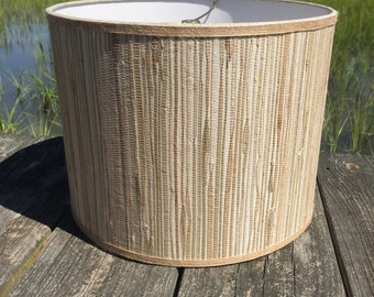 Drum Lamp Shade Seagrass and Natural Jute Medium Custom Lampshade