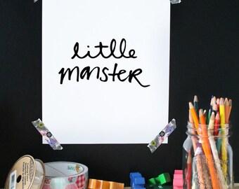 Kids print, nursery art, wall art, kid room decor, baby room decor, baby print, happy print, little monster, printable art, typography print