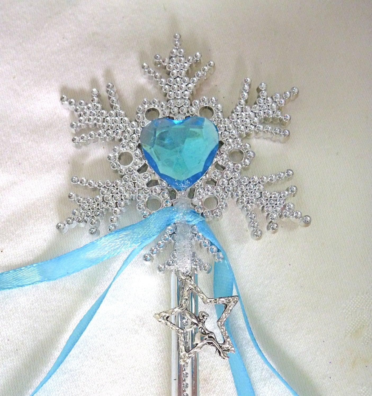 Fairy Wand. TURQUOISE Princess Wand. Silver Fairy Charm. Heart