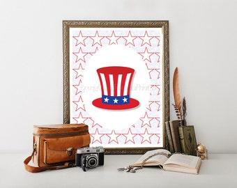 July Fourth, 4th July, July 4th Decoration, 4th July Decor, Patriotic Printable, Patriotic Decor, 4th of July Digital Download 0158