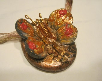 Butter Fly Brooch or Necklace