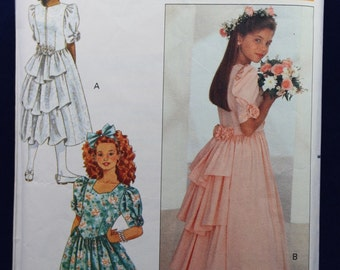Sewing Pattern for a Girl's Bridesmaid's Dresses for Age 12 - Butterick 4529