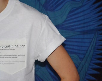 Procrastion Definition Pocket Tee (FREE SHIPPING)