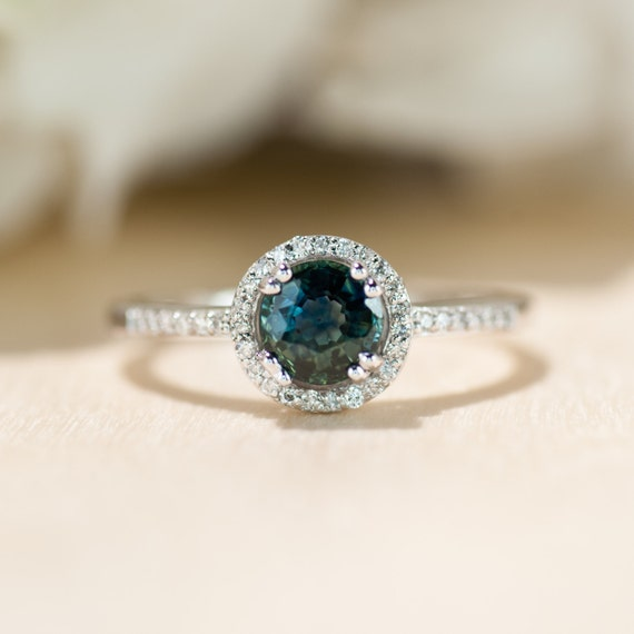 sapphire engagement ring dainty engagement ring simple