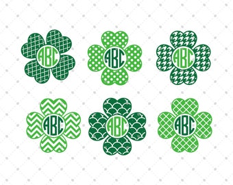 Shamrock SVG Cut Files, Shamrock Monogram Frames SVG Cut Files for Cricut, Silhouette and other  Vinyl Cutters, svg files