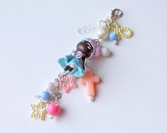 Kawaii Chibi Fairy Kei Polymer Clay Doll Charms