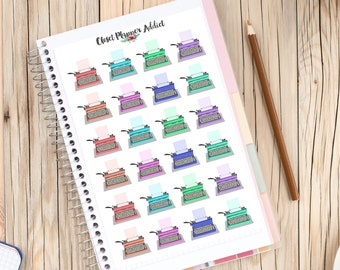 Typewriters Planner Stickers | Writing Stickers | Writers Authors | Vintage Typewriters (S-082)
