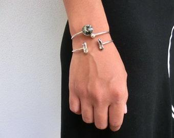 Jonc Rivoli - Bracelet jonc Argent et Cristal