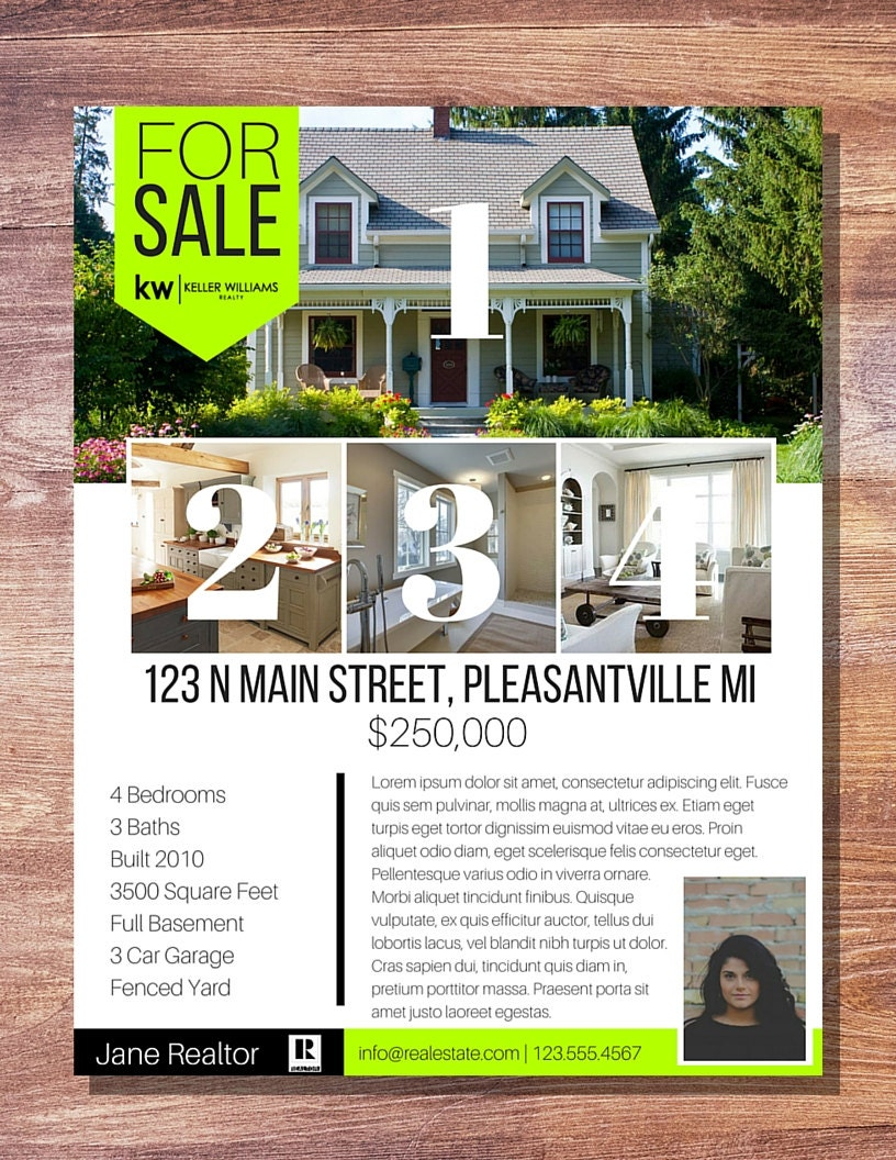 Modern banner real estate for sale flyer 1 for Contemporary real estate for sale