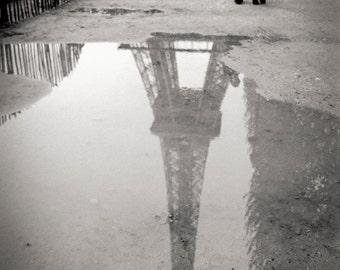 Eiffel Tower refection, Paris 1999.