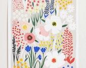 Anemone Garden Art Print - 12x16