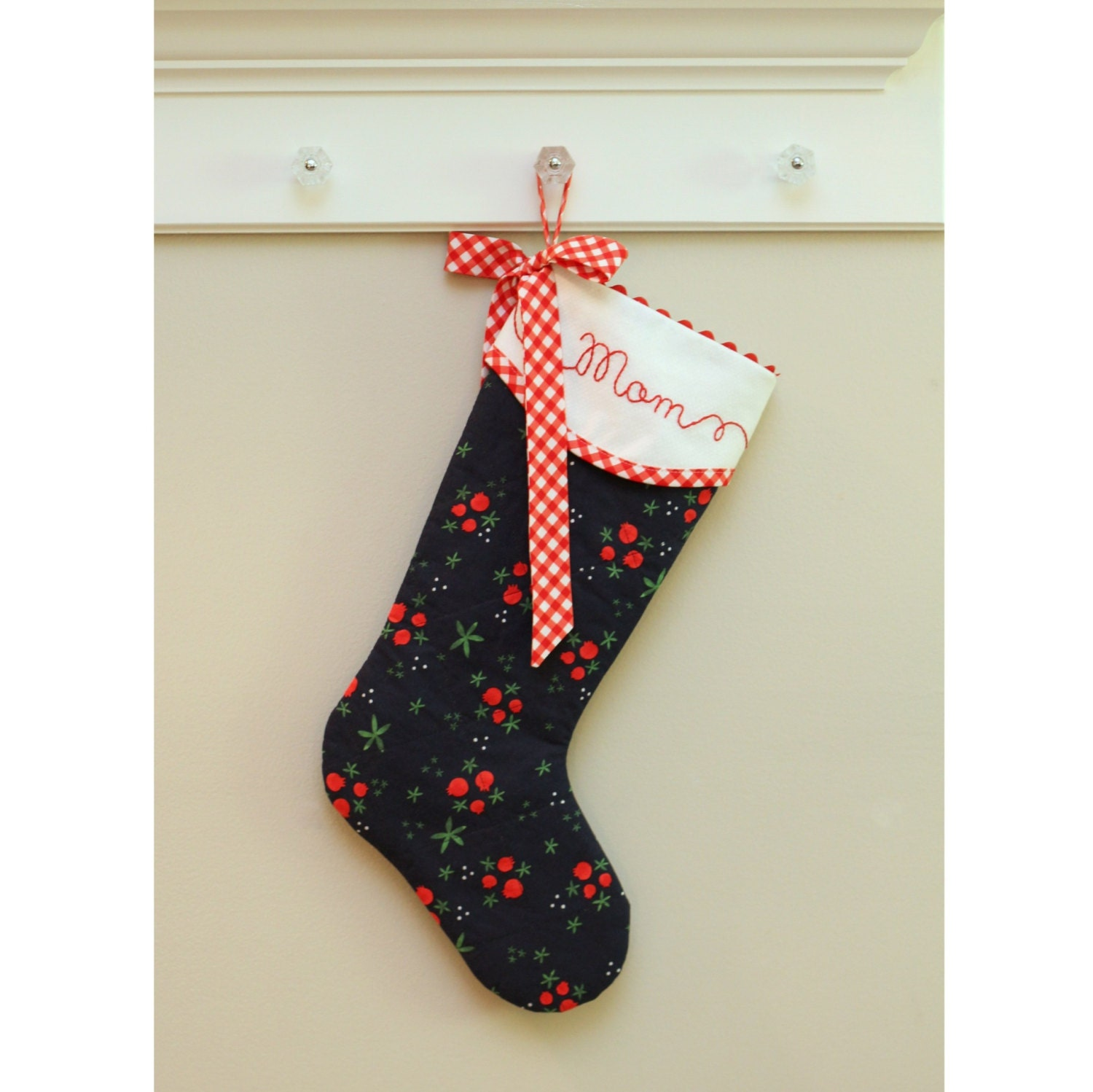 Personalized Christmas Stocking Quilted Christmas Stocking