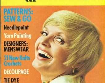 1001 Fashion & Needlecraft Ideas Book #4 SUMMER CROCHET BIKINI Florence Henderson Article 1970s Magazine