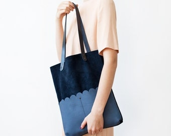 Clearance SALE Navy Blue Tote bag No.Tl- 901