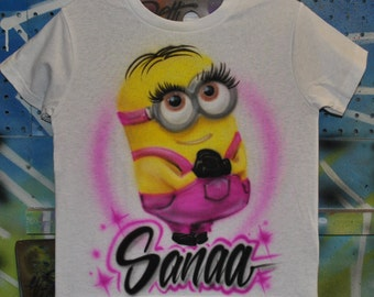Custom Airbrushed Baby/Toddler Tee | Girl Minion